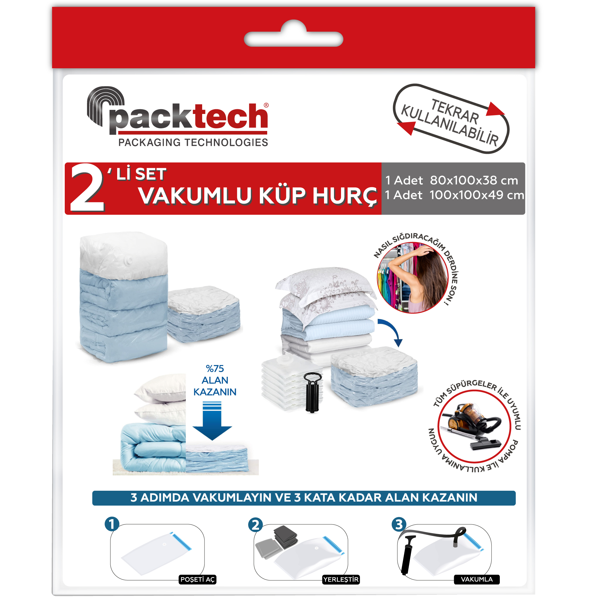 Packtech Cube Vacuum Storage Bag