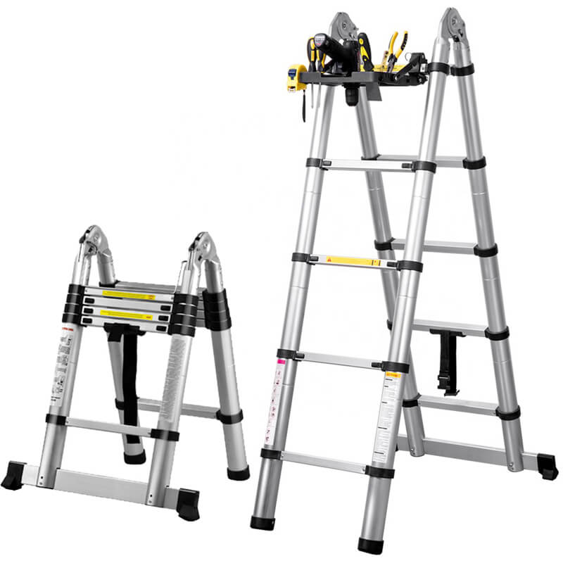 Packtech Aluminum Double Side Telescopic Ladder
